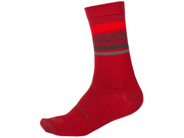 Endura BaaBaa Merino Stripe Socks Men red